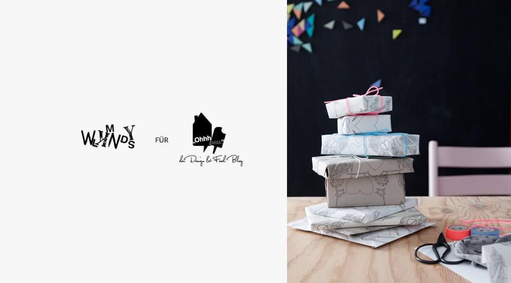 DIY Kolumne: Storch Geschenkpapier zum Ausdrucken