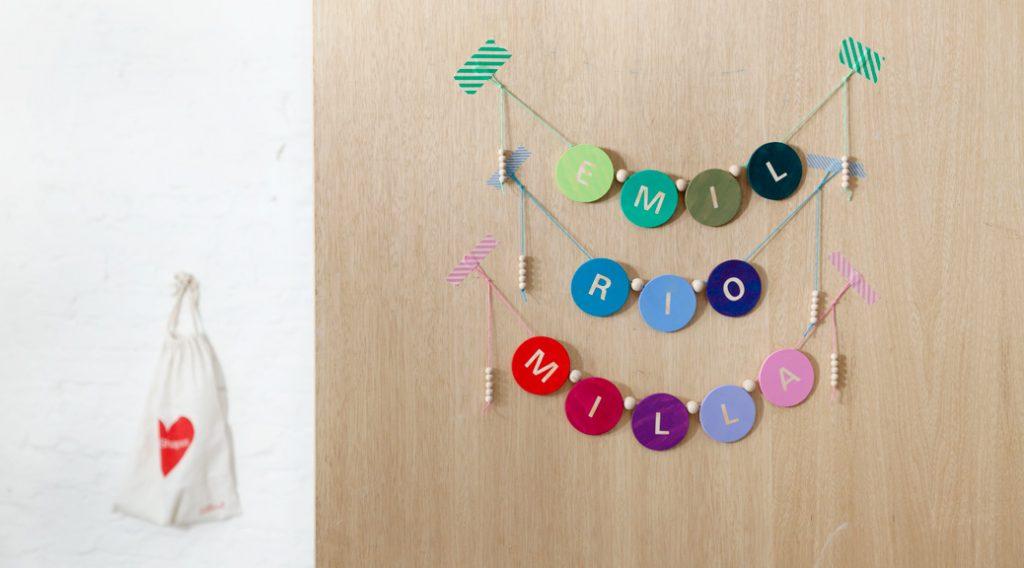 Namensgirlande für das Kinderzimmer basteln