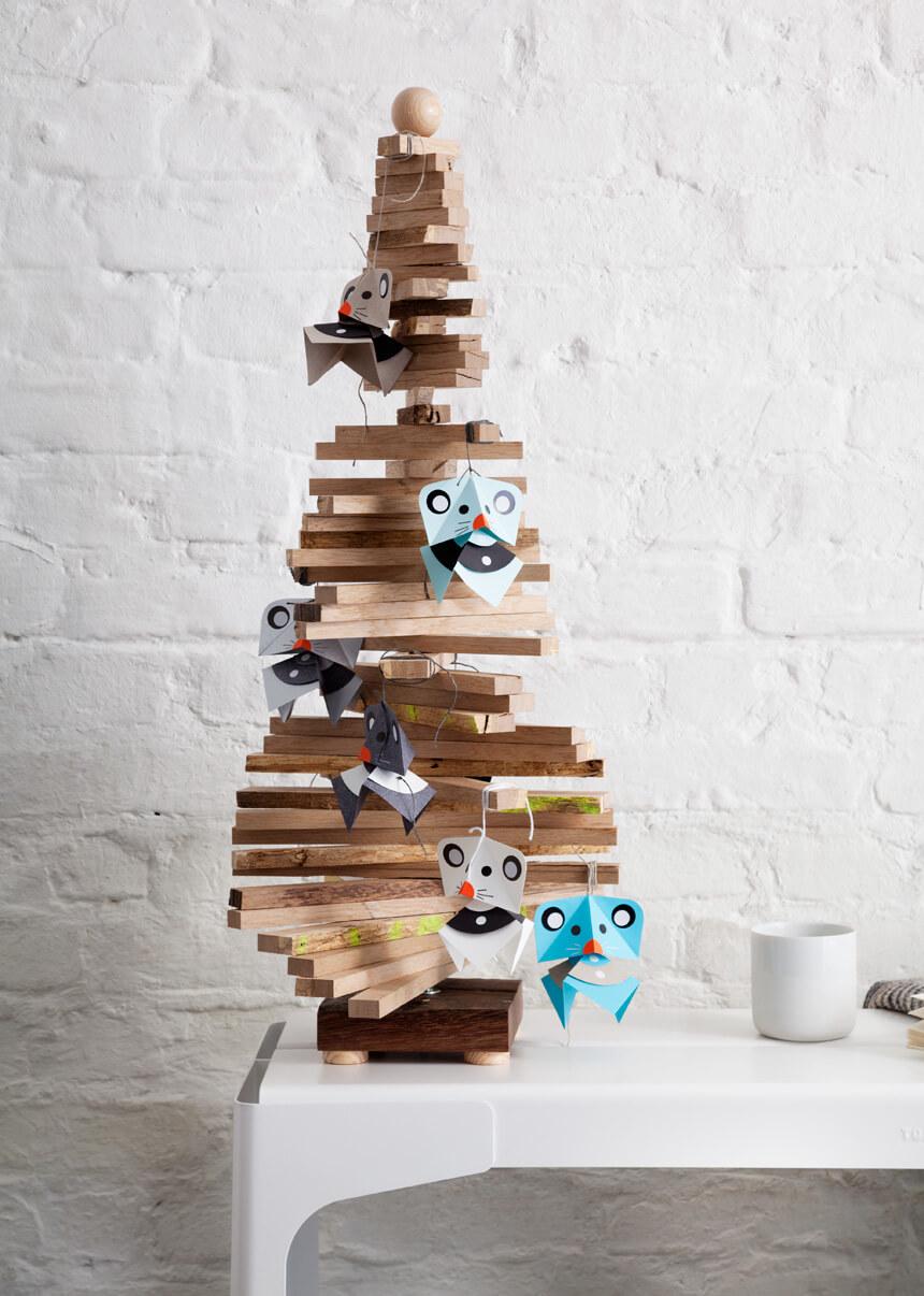 Weihnachtsdeko basteln: DIY Weihnachtsmäuse