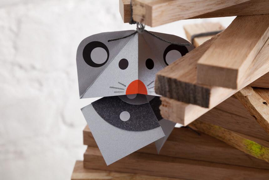 Weihnachtsdeko basteln: DIY Weihnachtsmäuse selber machen