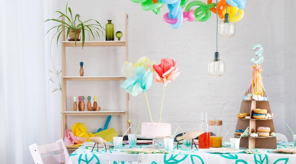 Flower Pops Partytisch