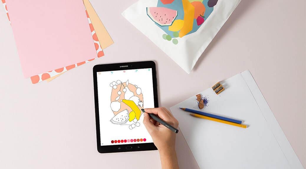 Einfach ausmalen mit dem Samsung Galaxy Tab S3
