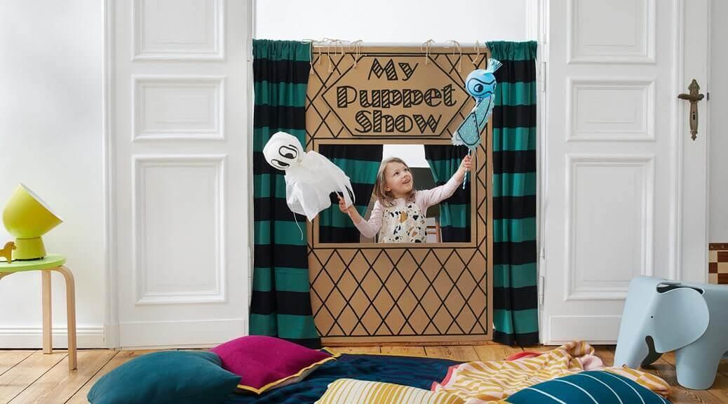 Ein Puppentheater mit Ballonpuppen