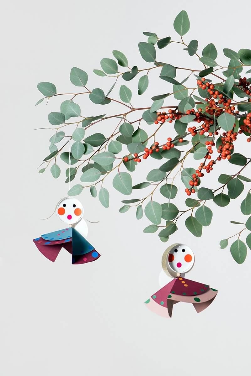 Weihnachtsdeko DIY Bastelset - Engelchor Baumschmuck