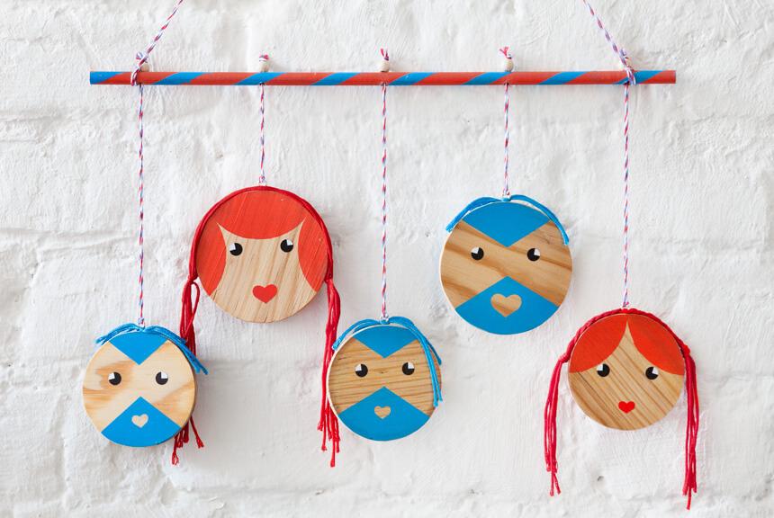 Basteln für das Kinderzimmer: Tag und Nacht Gesichter
