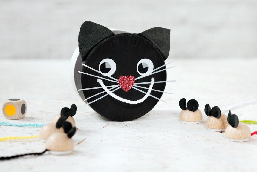 Spiele selber basteln: Schwarze Katze