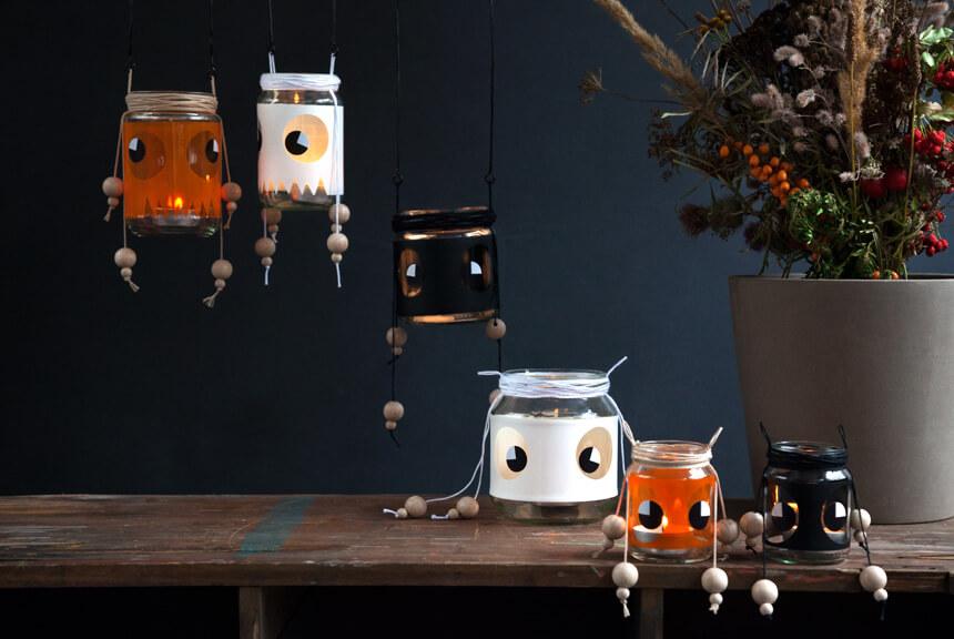 Basteln im Herbst und zu Halloween: DIY Leuchtgeister selber machen