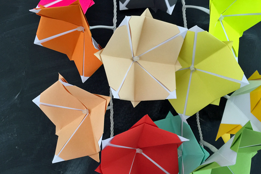 WLKMNDYS // Happy Monday DIY // Origami Lichterkette