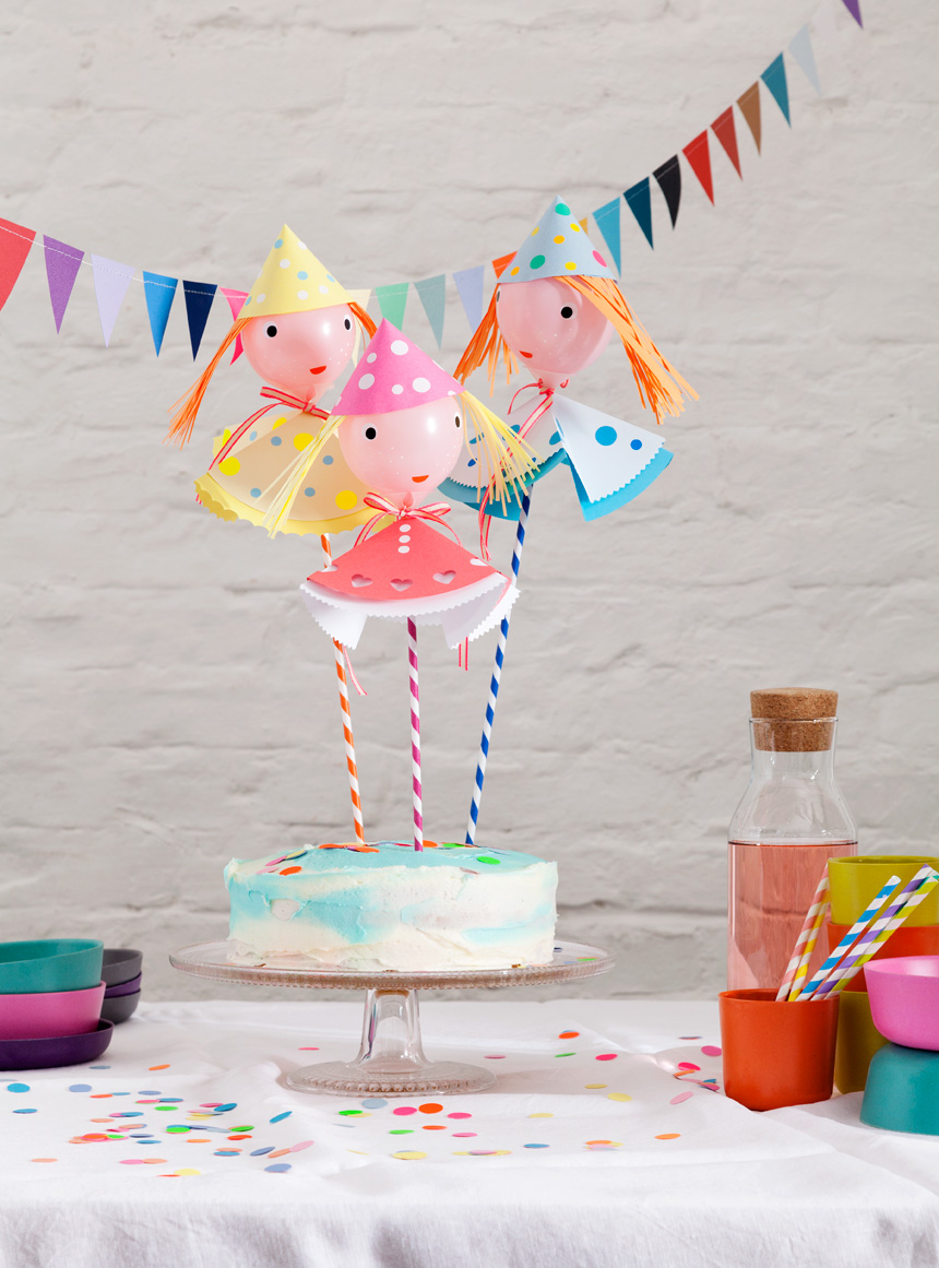 Kindergeburtstag Partydeko basteln: DIY Ballonpuppen