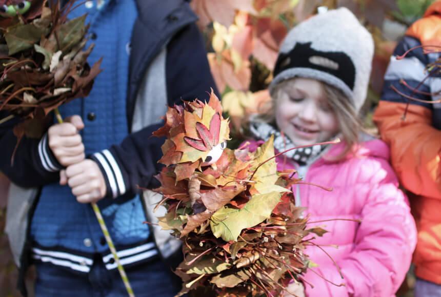 DIY Ideen für Basteln mit Kindern: Herbsthelden