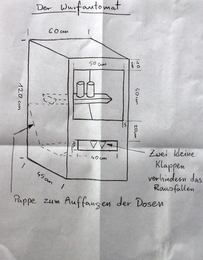WLKMNDYS // Skizze Wurfautomat // Daddys Corner