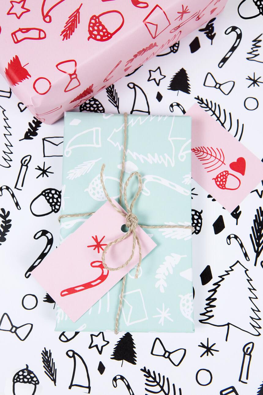 Weihnachten 2016: Geschenkpapier selbst ausdrucken mit PDF Vorlage - WLKMNDYS DIY Blog