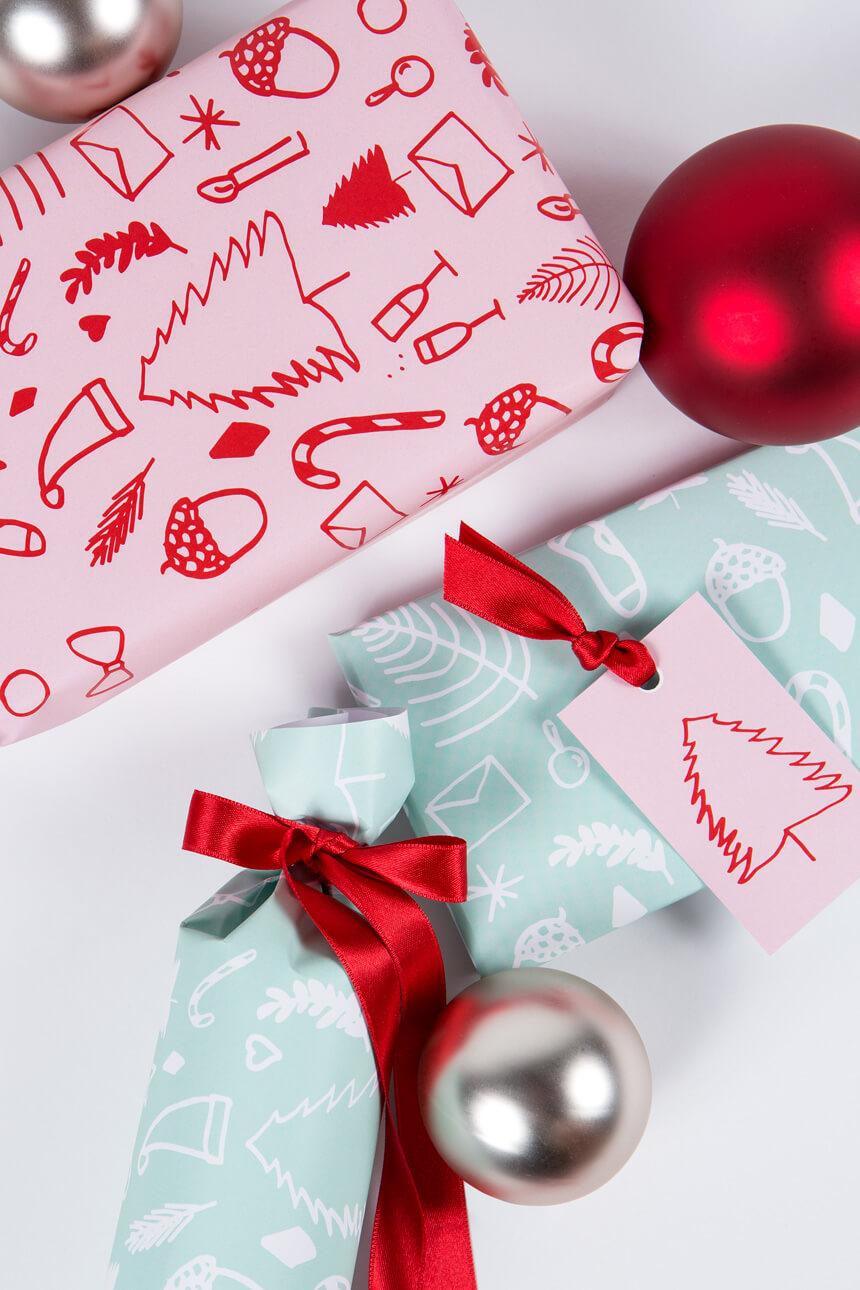 Geschenkpapier selbst ausdrucken - WLKMNDYS DIY Blog