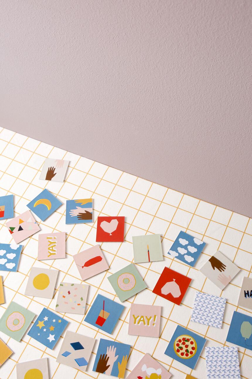 DIY Memory mit Vorlage selbst basteln