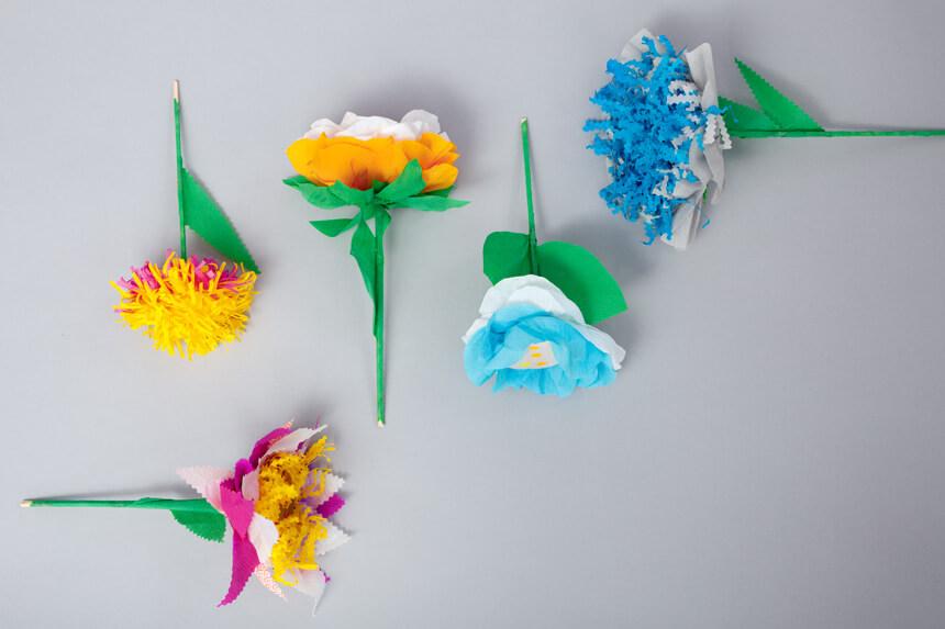 DIY Papierblumen basteln