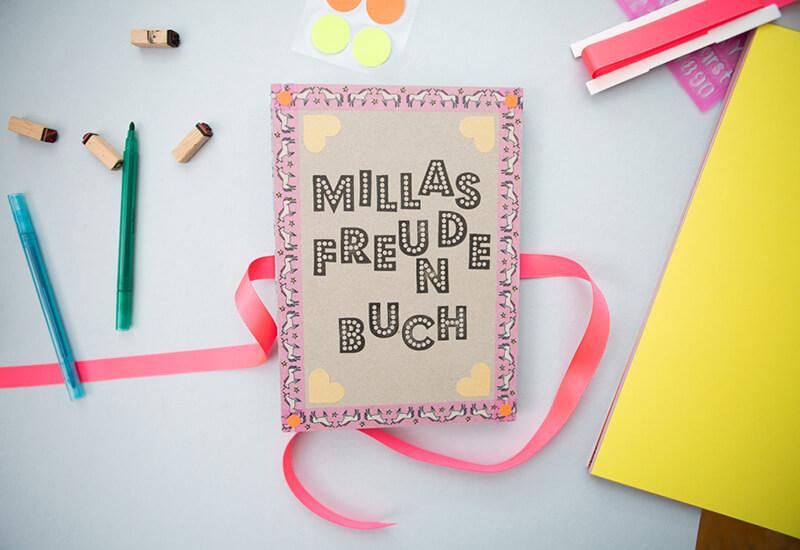 Ein DIY Freundebuch kreativ selbst basteln / Werbung