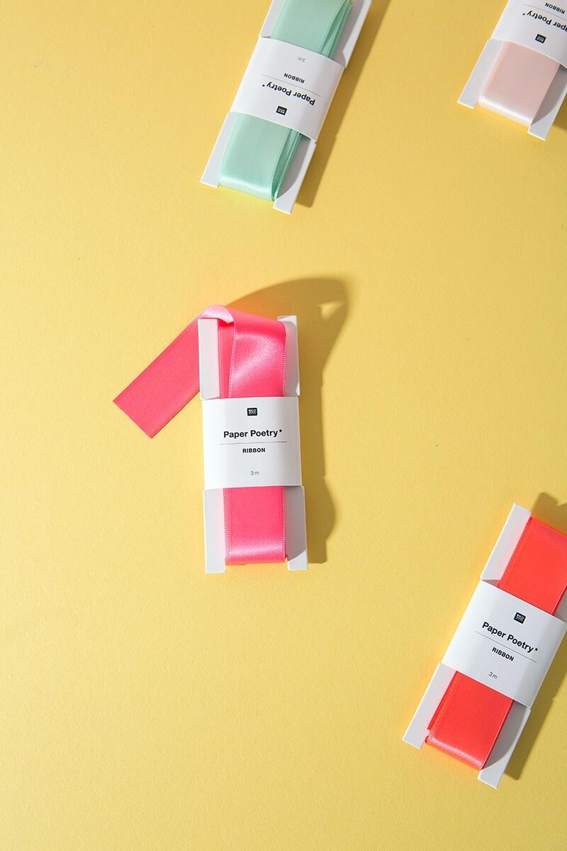 Satin Geschenkband für Basteln und DIY Projekte