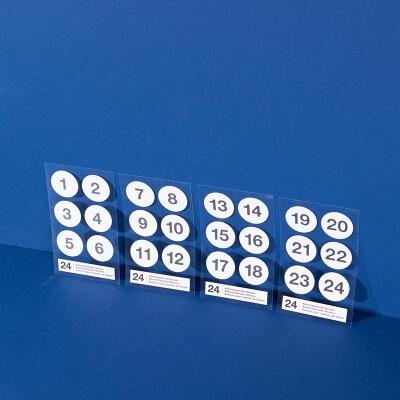 Adventskalender Sticker Zahlen 1 bis 24