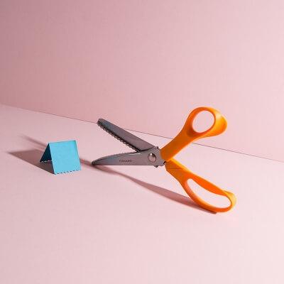 Zickzackschere für Basteln und DIY Projekte (Fiskars)
