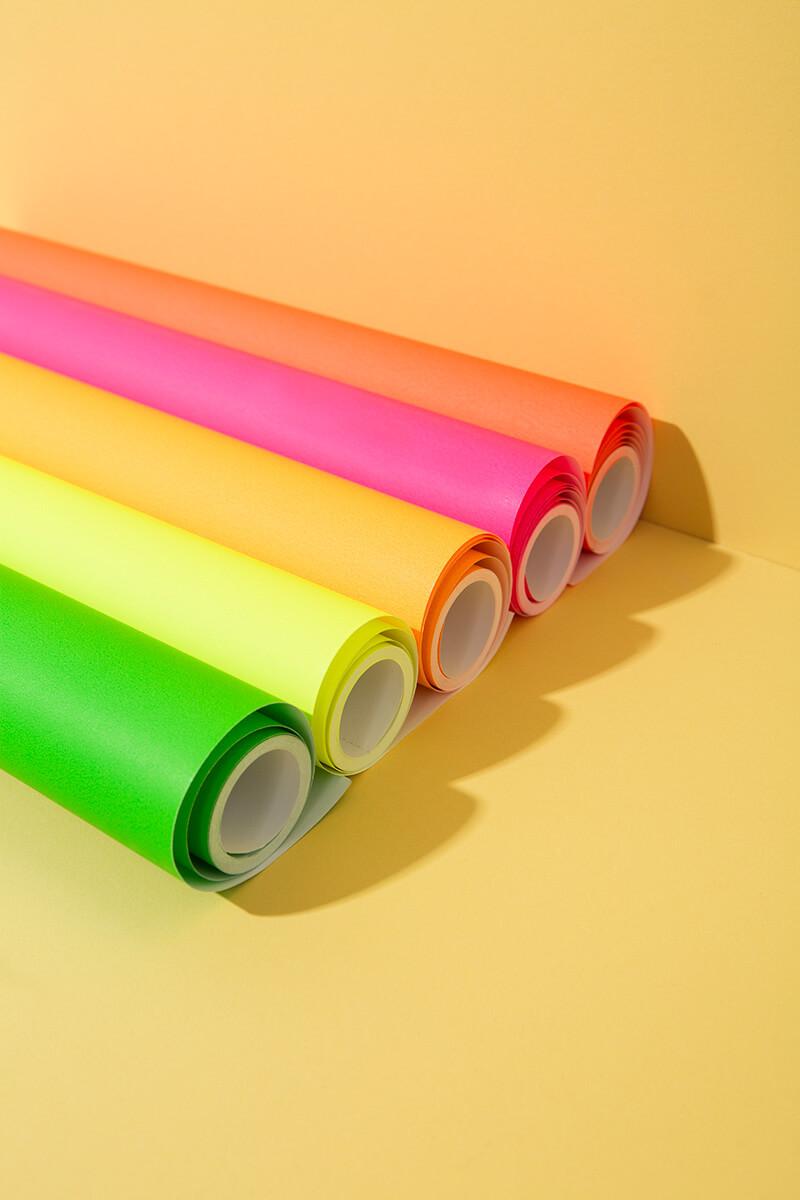 Tiny Rolls Geschenkpapier Neon – 5 Meter