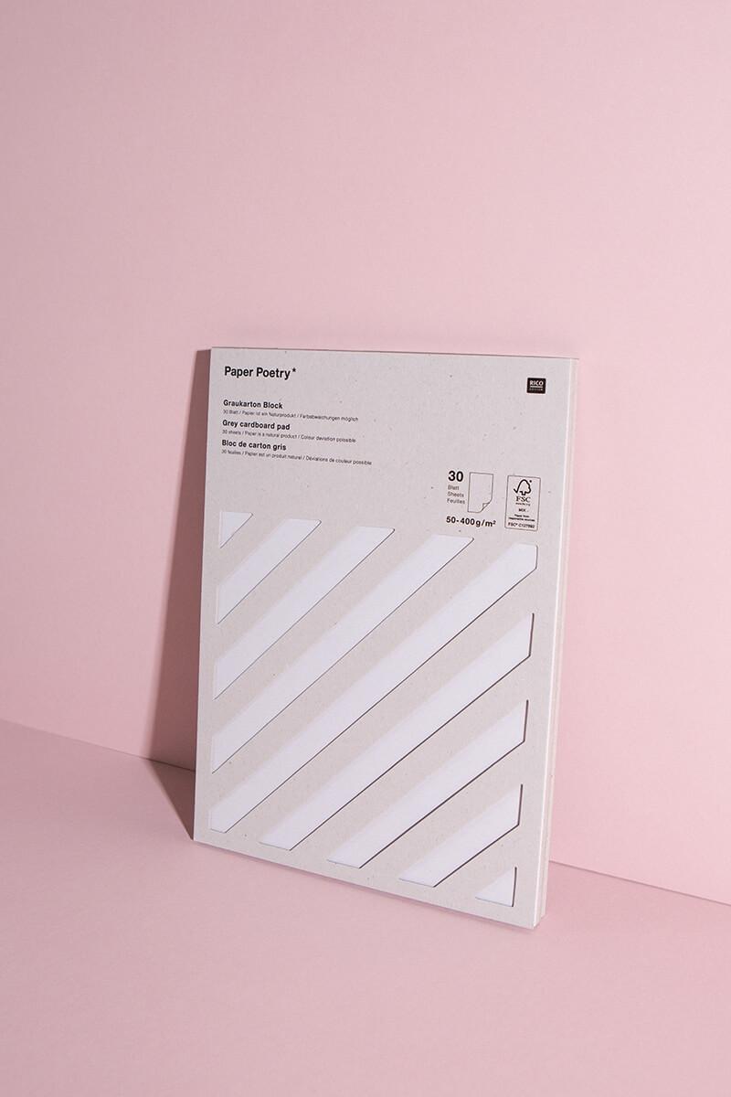 Bastelpapier Graukarton Block DIN A4