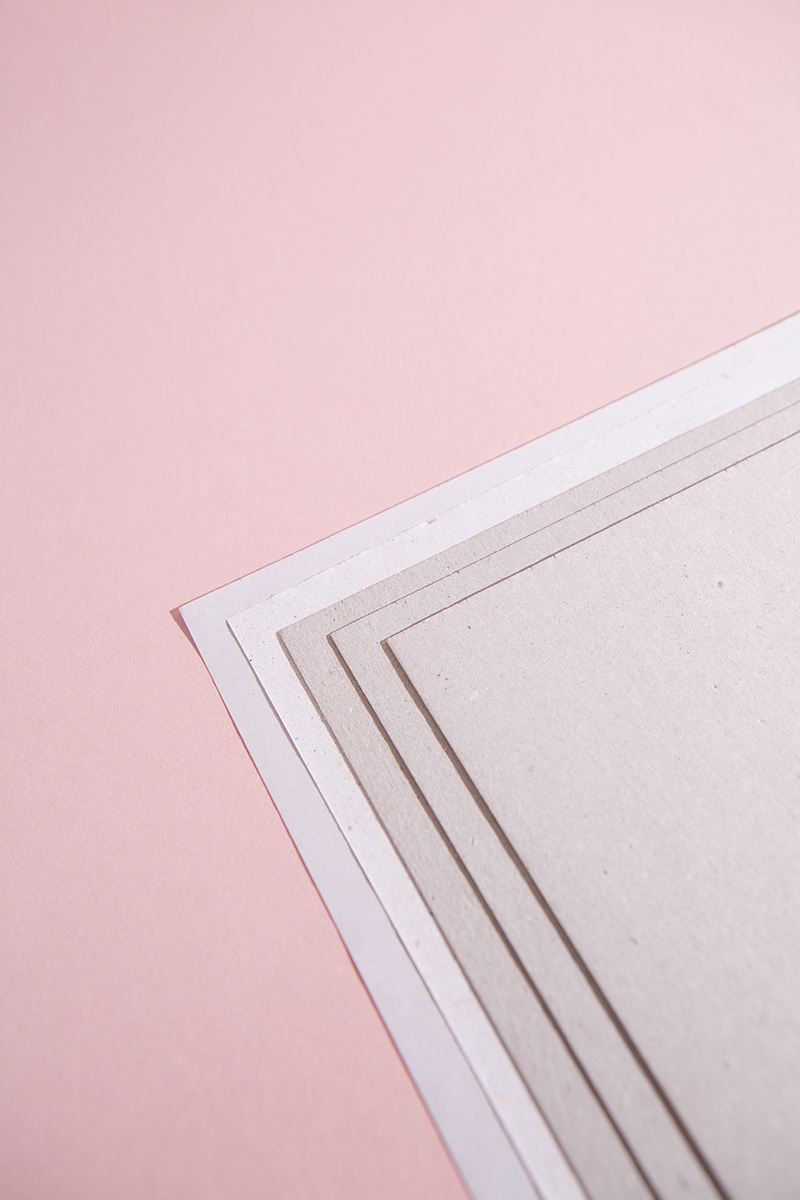 Graukarton Bastelpapierblock DIN A4