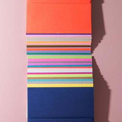 Super Color Blanko Umschläge 30er Box - WLKMNDYS DIY Shop