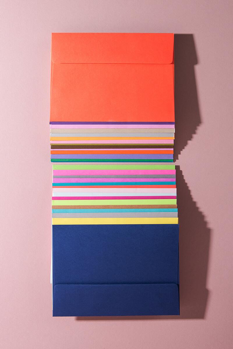 Super Color Blanko Umschläge – 30er Box