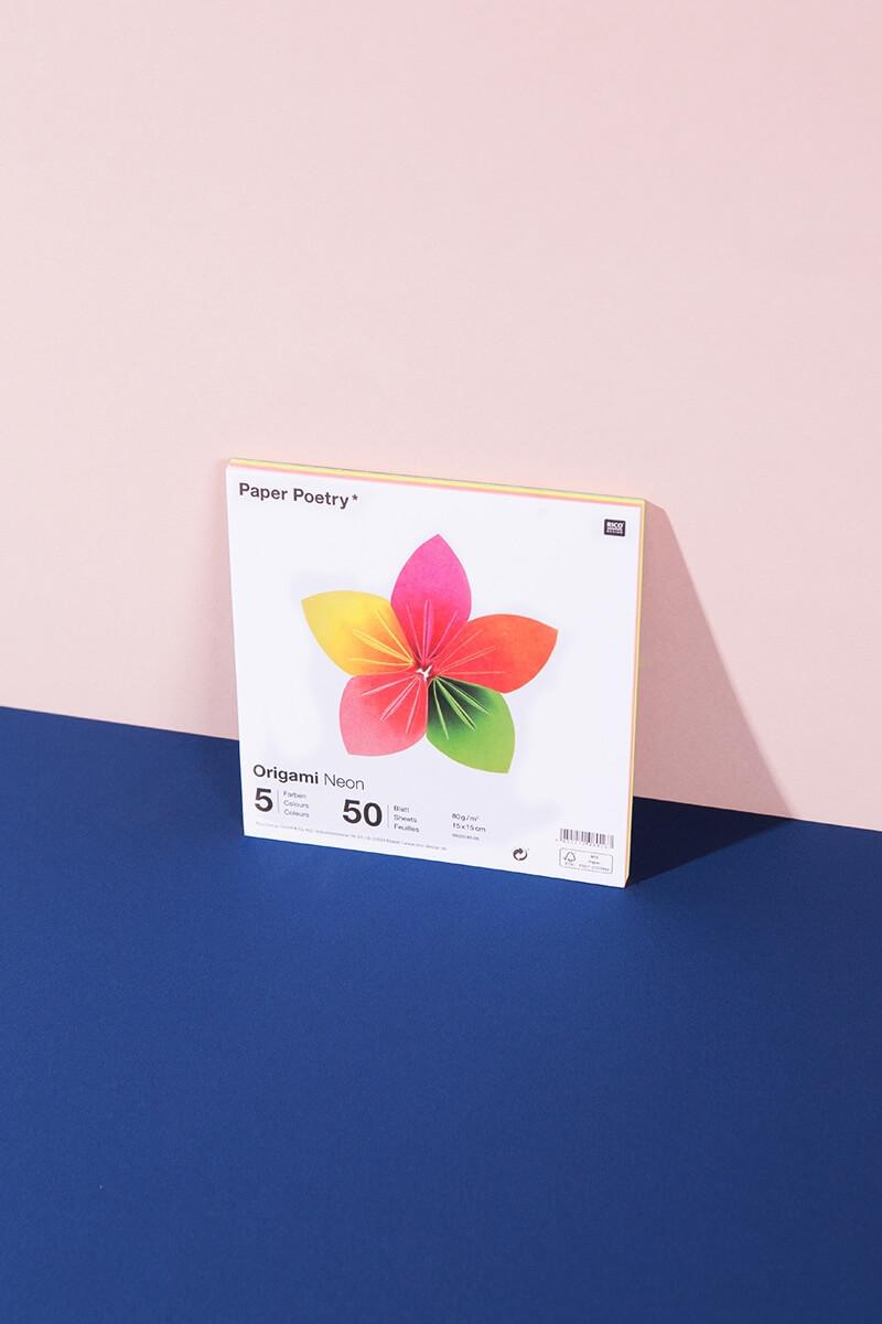 Origami Papier Neon 50 Blatt - WLKMNDYS DIY Shop
