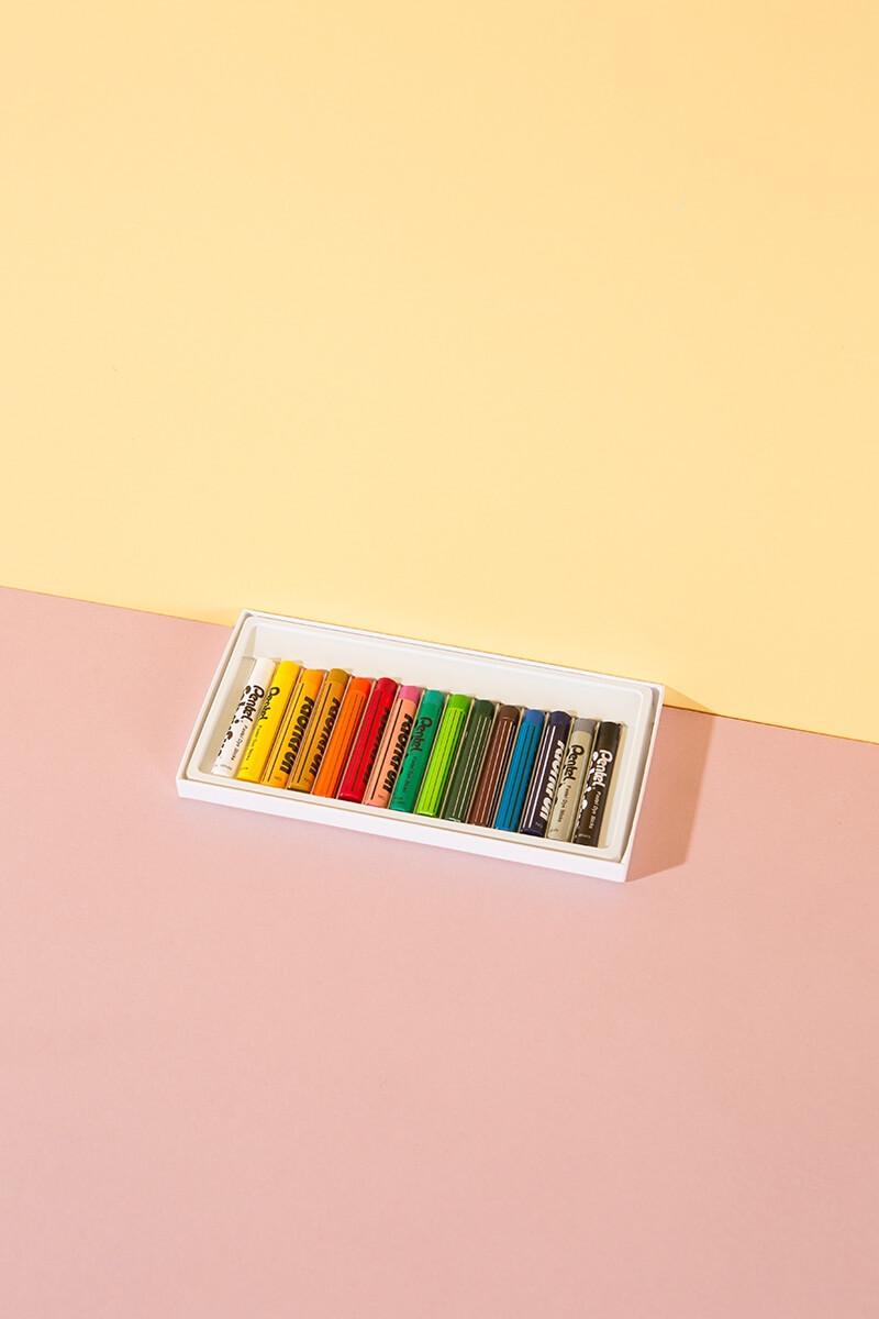 Wachsmalkreide für Stoffe – 15er Set – WLKMNDYS DIY Shop
