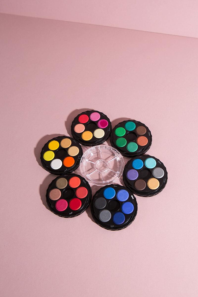 Wasserfarbkasten – 6 Etagen und 36 Farben