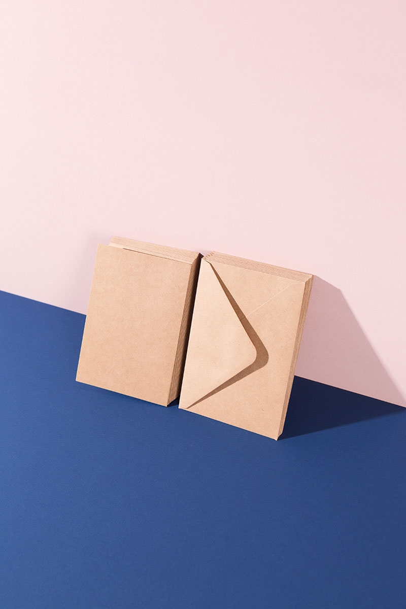 Blanko Kartenset Kraftpapier für Basteln und DIY Projekte - WLKMNDYS Shop