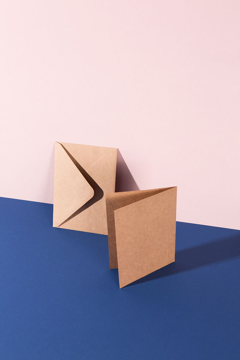 Blanko Kartenset Kraftpapier