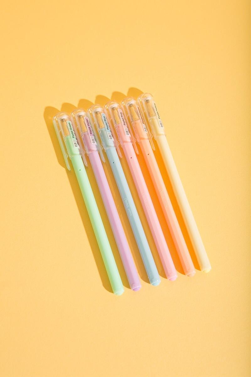 Milky Pastell Gel-Roller Stifte 6er Set