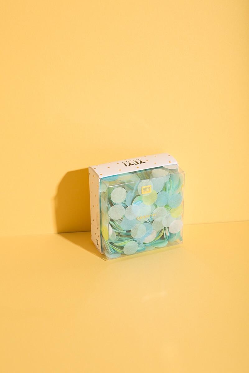 "Konfetti Mix ""Karibik Mix"" für Basteln mit Kindern und kreative DIY Projekte - WLKMNDYS Shop"