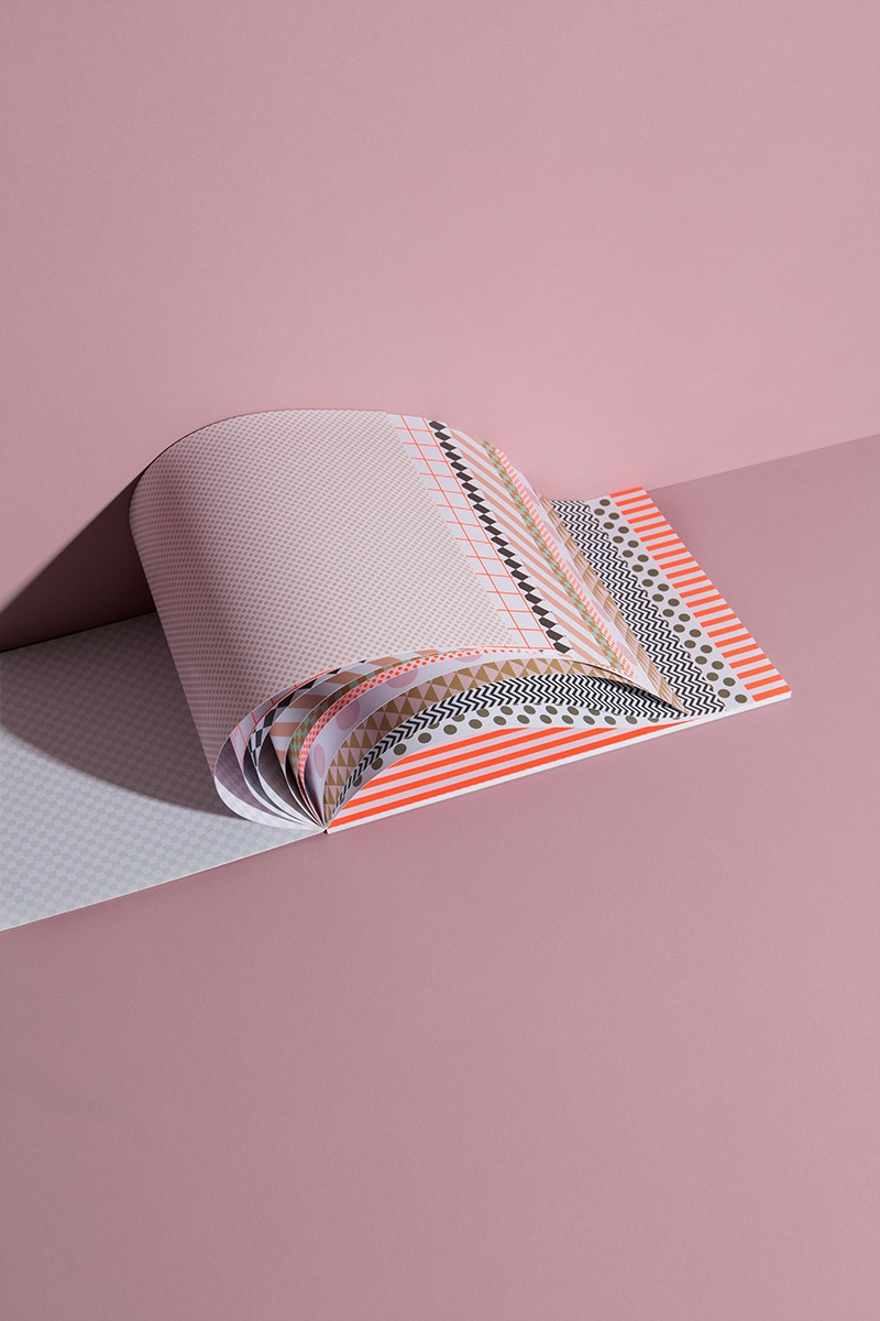 """Bastelpapierblock """"Grafische Muster"""" – DIN A4 - Perfekt für Basteln und DIY Projekte"""