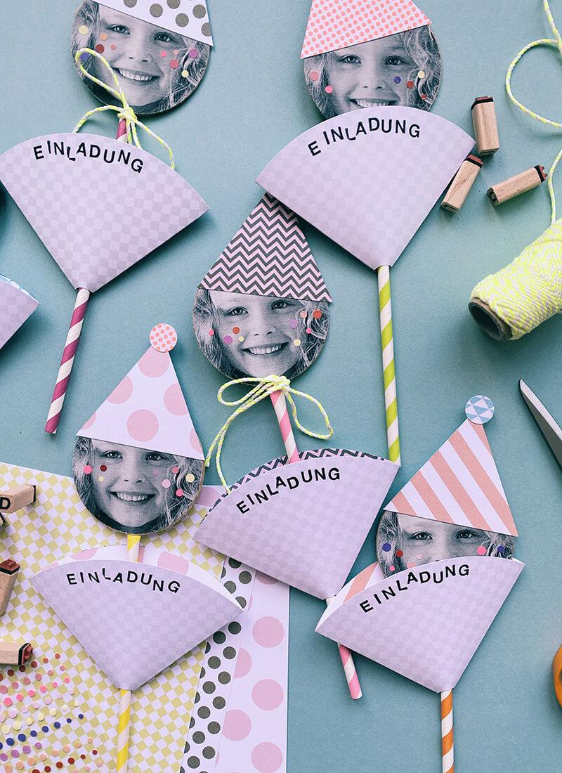 Geburtstagseinladungen für Kinder basteln: DIY Einladungskarten zum Kindergeburtstag