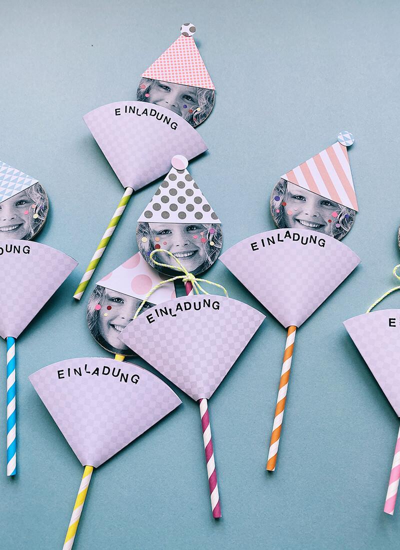 Geburtstagseinladungen für Kinder basteln