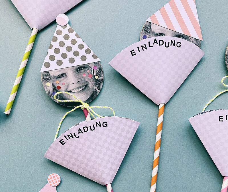 Lustigste Geburtstagseinladungen für Kinder basteln