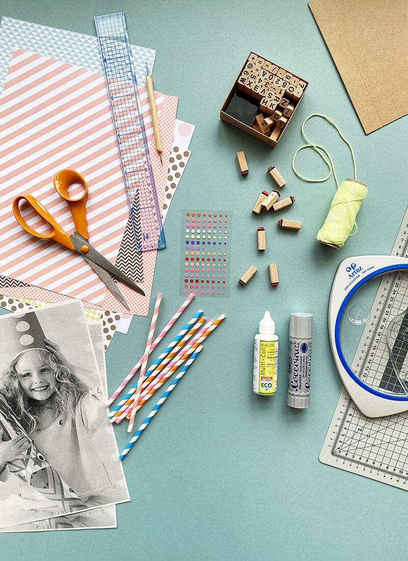 DIY Einladungen für Kinder: Materialliste