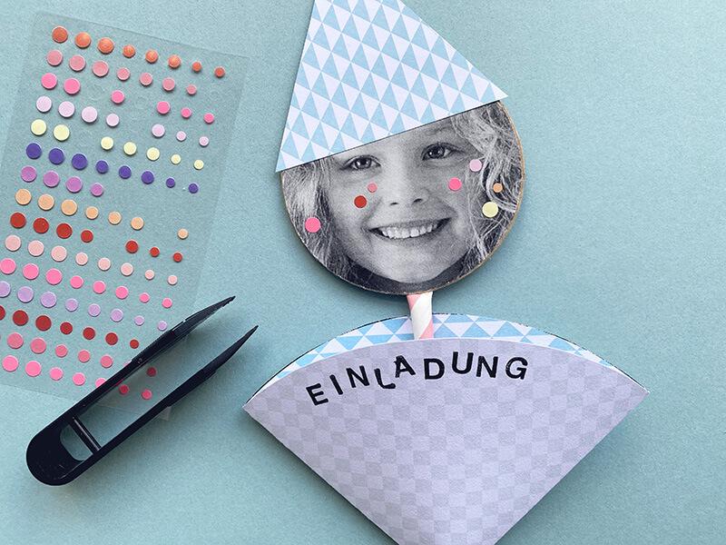 Einladungen zum Kindergeburtstag basteln