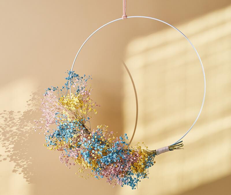 Einen Metallring mit Blumen für den Frühling basteln