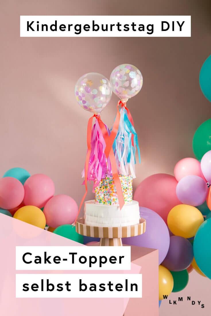 Cake Topper für den Kindergeburtstag easypeasy selbst basteln