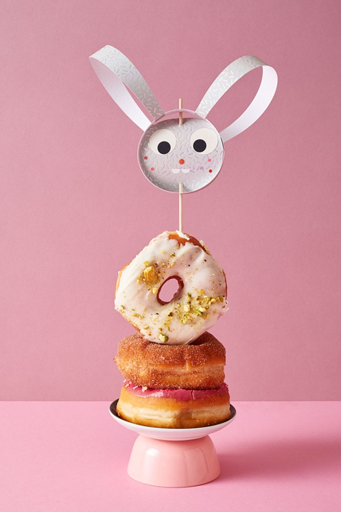 Oster Bastelideen: Donut Osterhase basteln