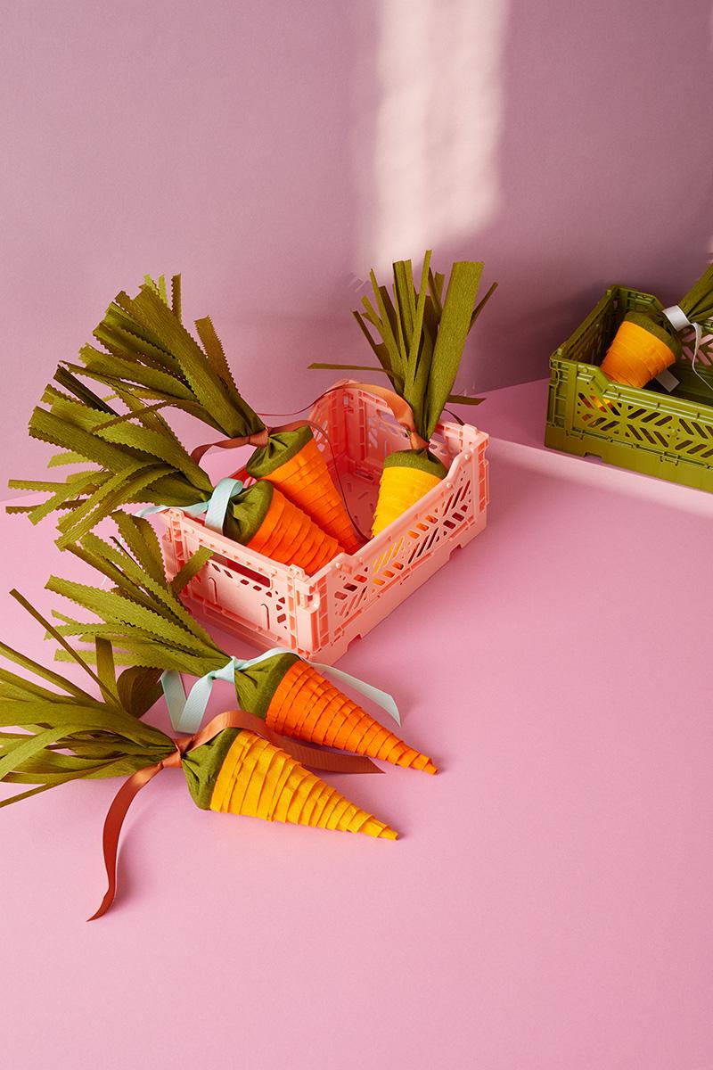 Überraschungskarotten Bastelset: DIY Geschenkverpackung und Tischdeko für Ostern und Kindergeburtstage