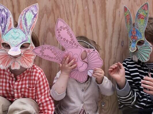 Osterhase Vorlage - Bunny Maske Printable