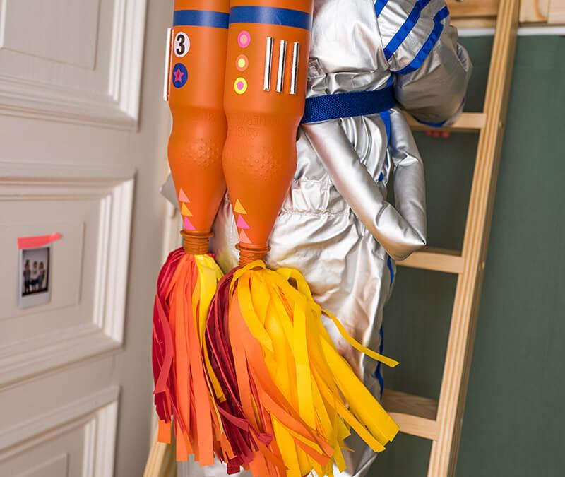 Einen Raketenantrieb für das Astronauten Kostüm basteln!