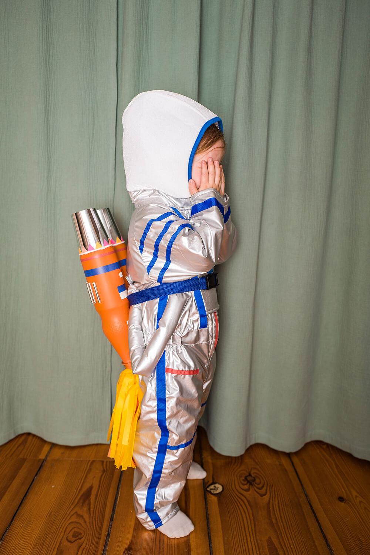 Astronauten Kostüm basteln