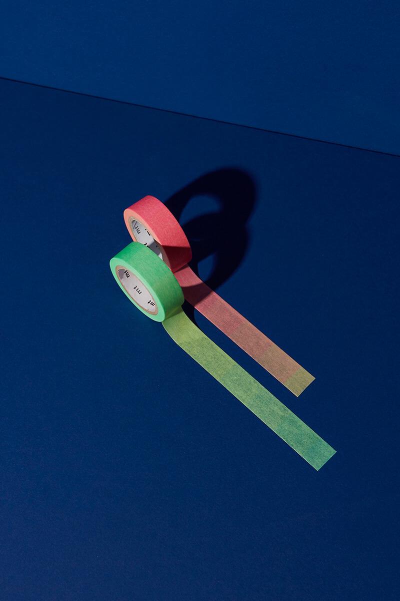 Masking Tape Fluorescent Gradation