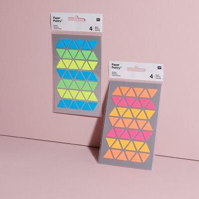 Stickerset Neon Dreiecke